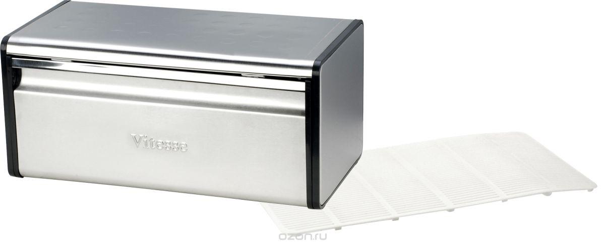 Хлебница VitesseВсе для хранения<br>Тип: хлебница, Материал: нерж.сталь<br>