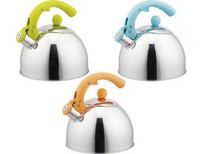 Чайник со свистком IritЧайники со свистком<br>Тип: чайник со свистком, Объем: 3, Цвет: хром, Материал: сталь, Со свистком: есть<br>