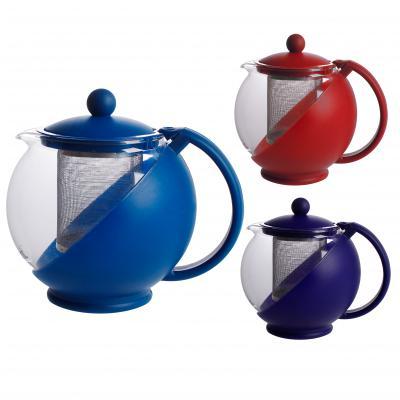 Чайник заварочный IritЧайники заварочные<br>Тип: чайник заварочный, Объем: 0.75, Цвет: прозрачный, Материал: стекло<br>