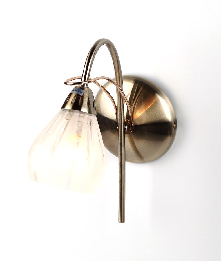 Бра Rivoli Elba-w-1хe14-40w-antique brass/gold (6/72)