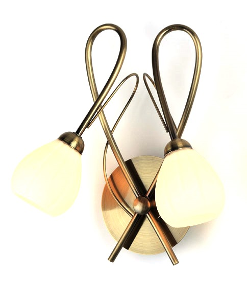 Бра RivoliНастенные светильники и бра<br>Тип: настенный,<br>Назначение светильника: для комнаты,<br>Стиль светильника: модерн,<br>Материал светильника: металл, стекло,<br>Тип лампы: галогенная,<br>Количество ламп: 2,<br>Мощность: 40,<br>Патрон: G9,<br>Цвет арматуры: латунь,<br>Длина (мм): 170,<br>Ширина: 300,<br>Высота: 280<br>