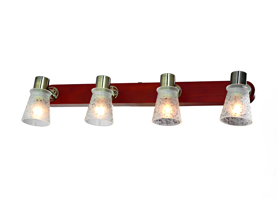 Бра RivoliНастенные светильники и бра<br>Тип: бра,<br>Назначение светильника: для комнаты,<br>Стиль светильника: модерн,<br>Материал светильника: металл, стекло, дерево,<br>Тип лампы: накаливания,<br>Количество ламп: 4,<br>Мощность: 40,<br>Патрон: Е14,<br>Цвет арматуры: бронза,<br>Длина (мм): 170,<br>Ширина: 590,<br>Высота: 60<br>