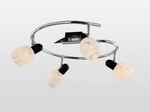 Люстра RivoliЛюстры<br>Назначение светильника: для гостиной,<br>Стиль светильника: модерн,<br>Тип: потолочная,<br>Материал светильника: металл, стекло,<br>Материал плафона: стекло,<br>Материал арматуры: металл,<br>Длина (мм): 120,<br>Ширина: 390,<br>Высота: 390,<br>Количество ламп: 4,<br>Тип лампы: накаливания,<br>Мощность: 40,<br>Патрон: Е14,<br>Цвет арматуры: хром,<br>Вес нетто: 2<br>