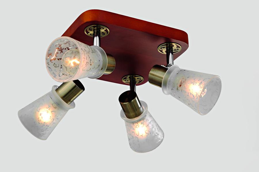 Люстра RivoliЛюстры<br>Назначение светильника: для гостиной,<br>Стиль светильника: кантри,<br>Тип: потолочная,<br>Материал светильника: металл, стекло, дерево,<br>Материал арматуры: металл,<br>Длина (мм): 170,<br>Ширина: 220,<br>Высота: 220,<br>Количество ламп: 4,<br>Тип лампы: накаливания,<br>Мощность: 40,<br>Патрон: Е14,<br>Цвет арматуры: бронза<br>