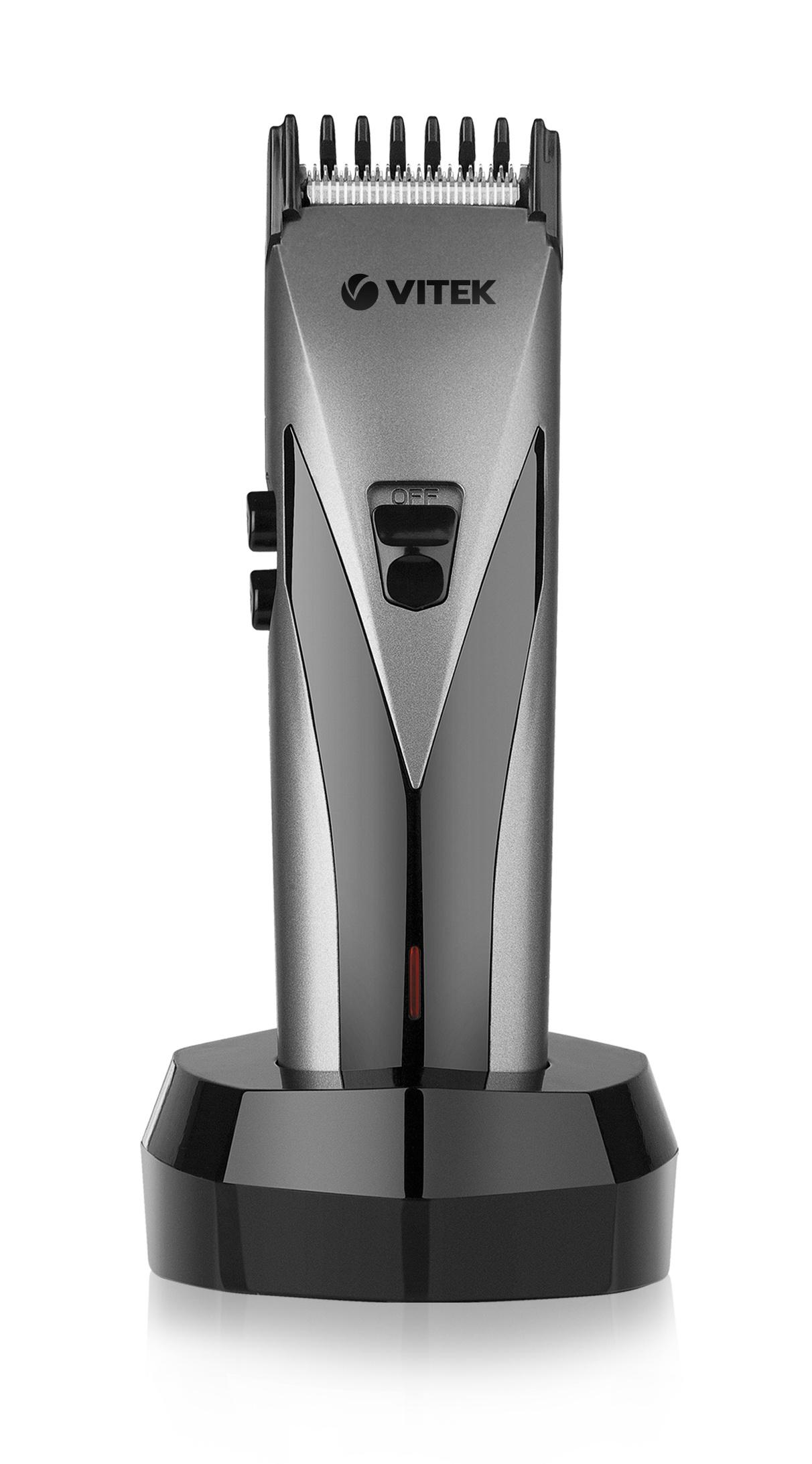 Машинка для стрижки VitekМашинки для стрижки<br>Тип: набор для стрижки,<br>Источники питания: аккумулятор/сеть 220В,<br>Вес нетто: 0.6<br>