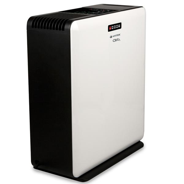 Мойка воздуха VitekВоздухоочистители<br>Тип установки: напольный,<br>Мощность: 320,<br>Производительность (м3/ч): 150,<br>Напряжение: 220,<br>Помещение: 30,<br>Объем ресивера: 3,<br>Тип фильтра: водяной,<br>Вес нетто: 4.1<br>