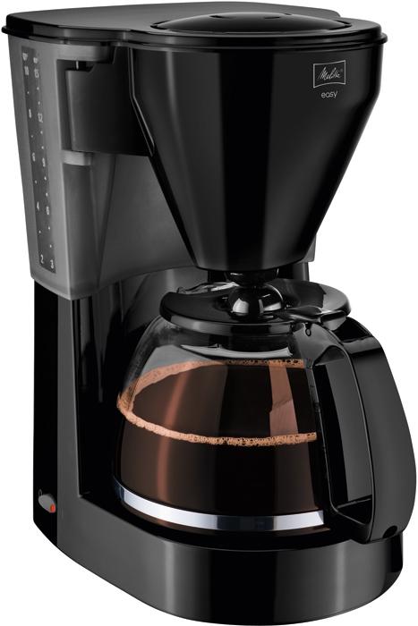 Кофеварка MelittaКофеварки<br>Тип: капельная, Тип используемого кофе: молотый, Мощность: 1000, Автоотключение: есть, Тип управления: механическое, Индикатор работы: есть<br>