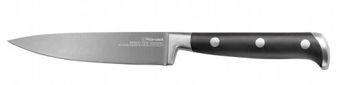 Нож RondellНожи, мусаты, ножеточки<br>Тип: нож, Назначение: универсальный, Материал: нержавеющая сталь, Длина (мм): 125<br>