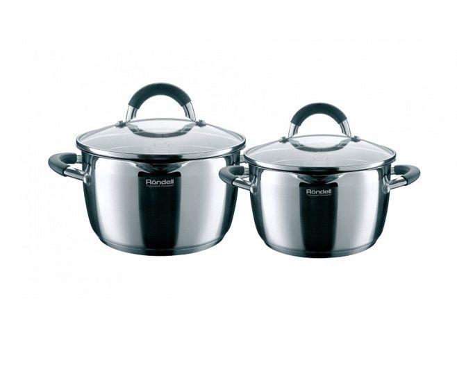 Набор кастрюль RondellНаборы посуды<br>Тип: набор кастрюль, Материал: сталь, Предметов в наборе: 4<br>