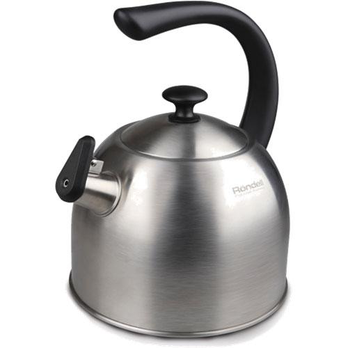 Чайник со свистком RondellЧайники со свистком<br>Тип: чайник со свистком,<br>Объем: 4,<br>Цвет: серебристый,<br>Материал: нержавеющая сталь,<br>Со свистком: есть<br>