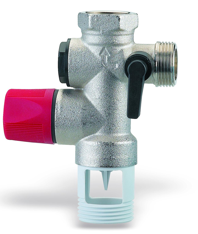 Группа безопасности WattsАрматура для труб<br>Материал фитинга: латунь,<br>Тип трубного соединения: резьба,<br>Назначение арматуры: клапан,<br>Присоединительный размер: 3/4  <br>