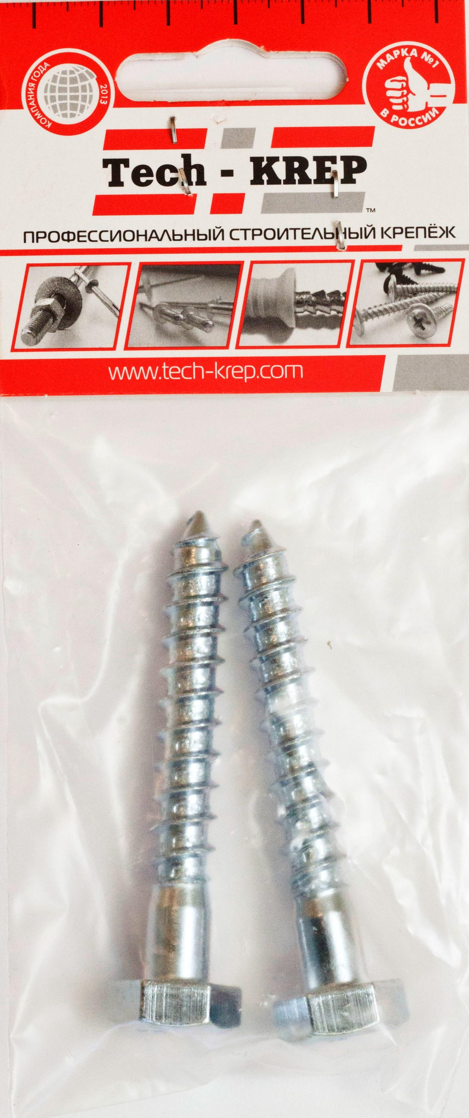 Шуруп ТЕХ-КРЕПСаморезы и шурупы<br>Тип: шуруп, Диаметр: 8, Длина (мм): 140, Материал: сталь оцинкованная, Цвет: серебристый, Головка: потайная, Назначение: универсальные, Количество в упаковке: 2<br>
