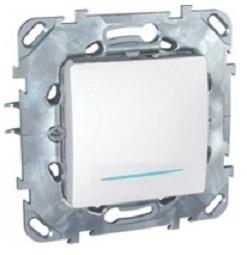 Механизм выключателя Schneider electricЭлектроустановочные изделия<br>Тип изделия: механизм выключателя, Способ монтажа: скрытой установки, Цвет: белый, Сила тока: 10, Степень защиты от пыли и влаги: IP 20, Количество клавиш: 1, Выходная мощность максимально: 2200, Коллекция: unica<br>