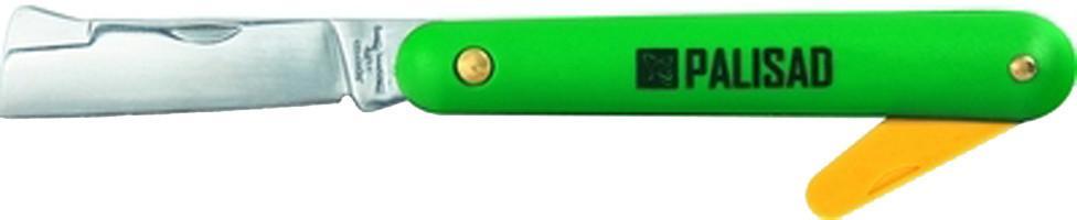 Нож PalisadНожи садовые<br>Тип: нож,<br>Тип ножа: прививочный,<br>Складной/ая: есть,<br>Материал рукоятки: пластик,<br>Длина (мм): 195<br>