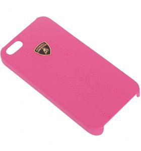 Клип-кейс LamborghiniЧехлы для телефонов<br>Марка телефона: iPhone 5/5, Тип: клип-кейс, Цвет: розовый, Материал: кожа, Вес нетто: 0.1<br>