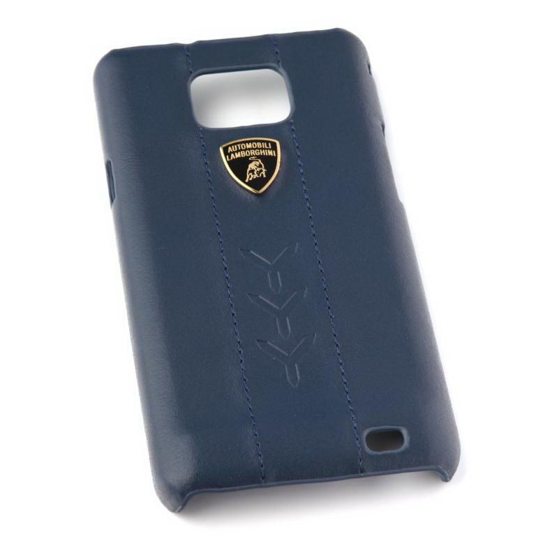 Клип-кейс LamborghiniЧехлы для телефонов<br>Марка телефона: Samsung Galaxy S2, Тип: клип-кейс, Цвет: серый/черный, Материал: кожа, Вес нетто: 0.1<br>
