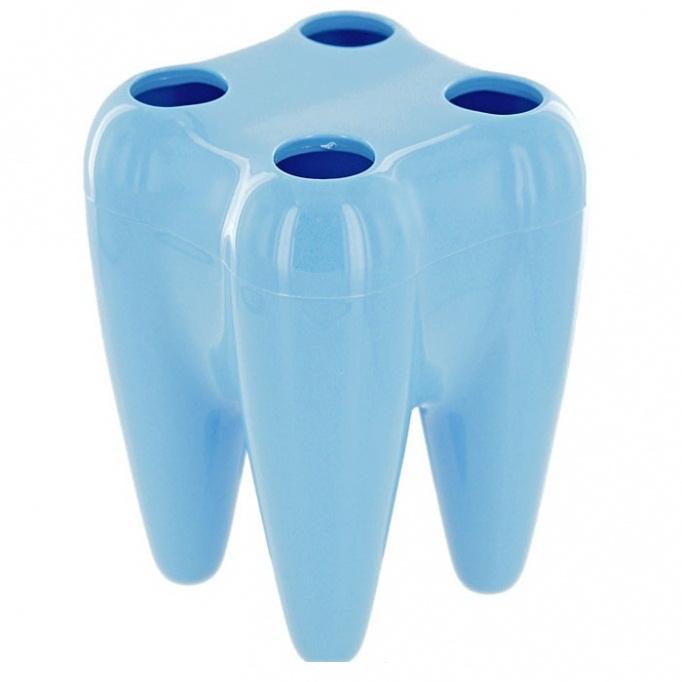 Держатель Regent inoxДержатели для ванной комнаты<br>Назначение: для зубных щеток, Цвет покрытия: голубой, Материал: металл, Способ крепления: на стену, Высота: 150, Ширина: 80, Глубина: 80<br>
