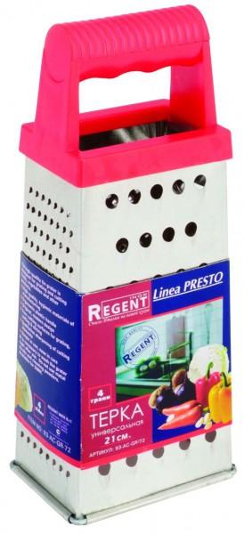 Тёрка Regent inoxАксессуары кухонные<br>Тип: тёрка,<br>Материал: нерж.сталь,<br>Длина (мм): 210<br>