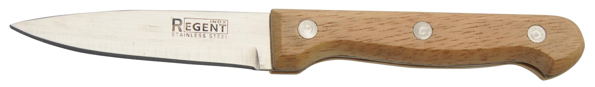 Нож для очистки овощей Regent inoxНожи, мусаты, ножеточки<br>Тип: нож, Назначение: для овощей, Материал: нержавеющая сталь, Длина (мм): 100<br>