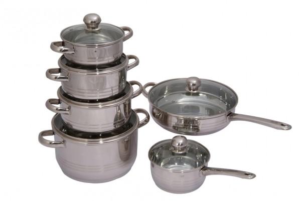 Набор Regent inoxНаборы посуды<br>Тип: набор посуды,<br>Материал: нерж.сталь,<br>Предметов в наборе: 12<br>