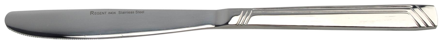 Нож столовый Regent inoxСтоловые приборы<br>Тип: нож,<br>Материал: нерж.сталь,<br>Предметов в наборе: 1,<br>Количество персон: 1<br>