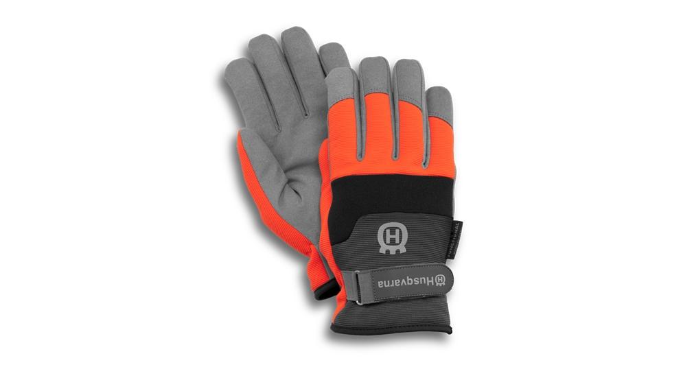 Перчатки HusqvarnaПерчатки и рукавицы<br>Тип: перчатки, Тип перчаток: комби, Пол: мужской, Размер: 10 (XL), Зимние: есть, Цвет: оранжевый<br>