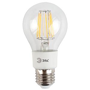 Лампа светодиодная ЭРАЛампы<br>Тип лампы: светодиодная, Форма лампы: груша, Цвет колбы: прозрачная, Тип цоколя: Е27, Напряжение: 220, Мощность: 5, Цвет свечения: холодный<br>