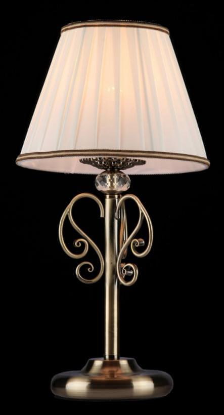 Лампа настольная MaytoniЛампы настольные<br>Тип настольной лампы: декоративная,<br>Назначение светильника: для спальни,<br>Стиль светильника: классика,<br>Диаметр: 220,<br>Высота: 430,<br>Количество ламп: 1,<br>Тип лампы: накаливания,<br>Мощность: 40,<br>Патрон: Е14,<br>Цвет арматуры: бронза<br>
