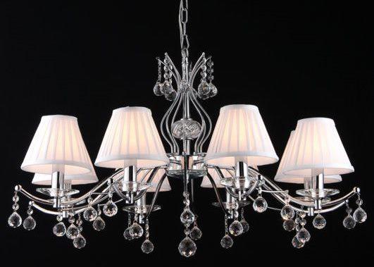 Люстра MaytoniЛюстры<br>Назначение светильника: для гостиной,<br>Стиль светильника: классика,<br>Тип: подвесная,<br>Материал светильника: металл, стекло,<br>Материал плафона: ткань,<br>Материал арматуры: металл,<br>Диаметр: 860,<br>Высота: 540,<br>Количество ламп: 8,<br>Тип лампы: накаливания,<br>Мощность: 40,<br>Патрон: Е14,<br>Цвет арматуры: хром,<br>Коллекция: arm700<br>