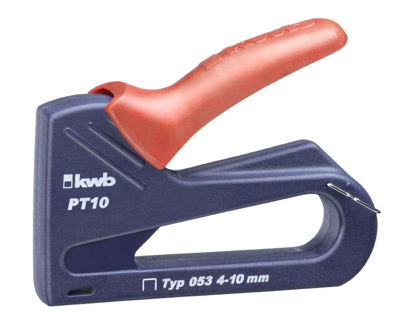 Степлер KwbСтеплеры ручные<br>Подходящая оснастка: скобы, Тип скоб: 53, Размер скоб: 4-10 мм<br>