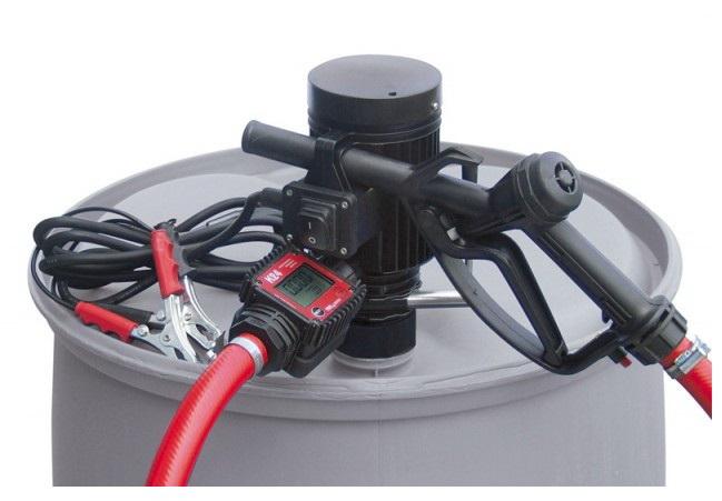 Бочковой комплект PiusiРаспределители ГСМ<br>Тип жидкости: диз.топливо, антифриз, вода, Тип: бочковой комплект, Напряжение: 24, Точность: ± 1%, Длина шланга: 4, Расходомер: есть<br>