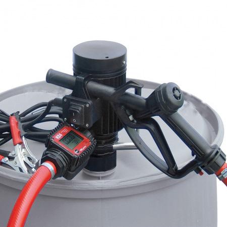 Бочковой комплект PiusiРаспределители ГСМ<br>Тип жидкости: диз.топливо, антифриз, вода,<br>Тип: бочковой комплект,<br>Напряжение: 24,<br>Точность: ± 1%,<br>Длина шланга: 4,<br>Расходомер: есть<br>