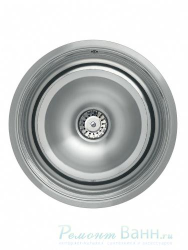 Мойка кухонная ReginoxМойки кухонные<br>Тип установки кухонной мойки: врезной,<br>Материал изготовления кухонной мойки: нержавеющая сталь,<br>Отверстие под смеситель: нет,<br>Форма кухонной мойки: круглая,<br>Количество чаш кухонной мойки: одна чаша,<br>Ширина: 502,<br>Глубина: 225,<br>Цвет: хром,<br>Наличие крыла: есть,<br>Расположение крыла: слева/справа,<br>Страна происхождения: Нидерланды,<br>Диаметр сливного отверстия: 3 1/2,<br>Диаметр: 502,<br>Вес нетто: 70<br>