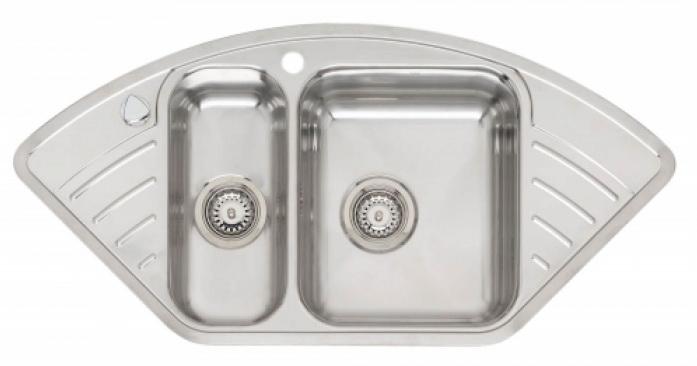 Мойка кухонная ReginoxМойки кухонные<br>Тип установки кухонной мойки: врезной,<br>Материал изготовления кухонной мойки: нержавеющая сталь,<br>Отверстие под смеситель: нет,<br>Форма кухонной мойки: угловая,<br>Количество чаш кухонной мойки: одна чаша,<br>Длина (мм): 183,<br>Ширина: 403,<br>Глубина: 170,<br>Цвет: хром,<br>Наличие крыла: есть,<br>Расположение крыла: слева/справа,<br>Страна происхождения: Нидерланды,<br>Диаметр сливного отверстия: 3 1/2,<br>Вес нетто: 36<br>