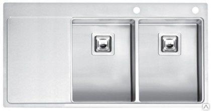 Мойка кухонная ReginoxМойки кухонные<br>Тип установки кухонной мойки: врезной,<br>Материал изготовления кухонной мойки: нержавеющая сталь,<br>Отверстие под смеситель: нет,<br>Форма кухонной мойки: прямоугольная,<br>Количество чаш кухонной мойки: две чаши,<br>Длина (мм): 303,<br>Ширина: 403,<br>Глубина: 190,<br>Цвет: хром,<br>Наличие крыла: есть,<br>Расположение крыла: слева/справа,<br>Страна происхождения: Нидерланды,<br>Вес нетто: 63<br>