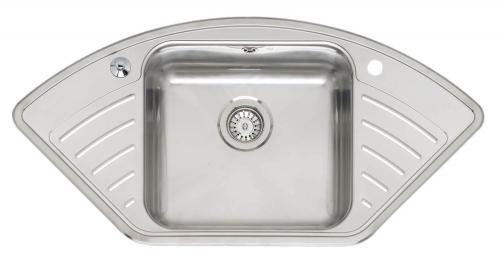 Мойка кухонная ReginoxМойки кухонные<br>Тип установки кухонной мойки: врезной,<br>Материал изготовления кухонной мойки: нержавеющая сталь,<br>Отверстие под смеситель: нет,<br>Форма кухонной мойки: угловая,<br>Количество чаш кухонной мойки: две чаши,<br>Длина (мм): 340,<br>Ширина: 400,<br>Глубина: 160/30,<br>Цвет: хром,<br>Наличие крыла: есть,<br>Расположение крыла: слева/справа,<br>Страна происхождения: Нидерланды,<br>Диаметр сливного отверстия: 3 1/2,<br>Вес нетто: 52<br>