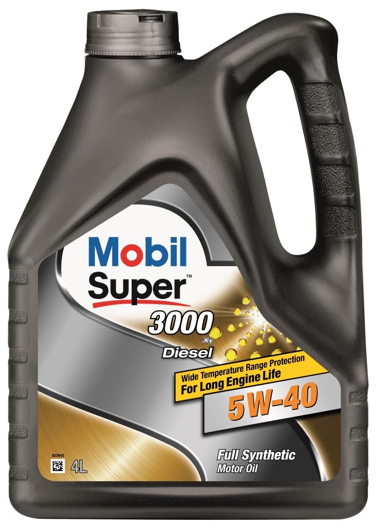 Масло моторное Mobil Super 3000 diesel x1 5w-40 (кан4л) (синтетическое)