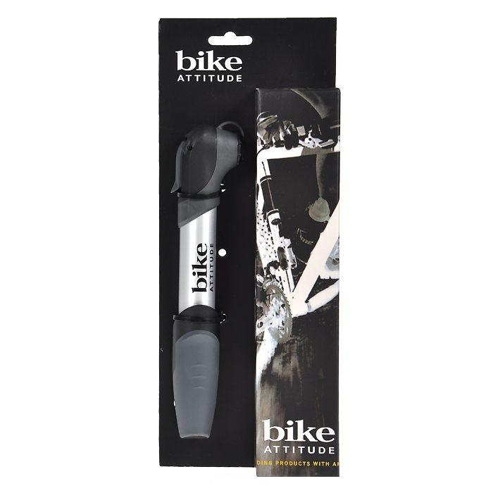 Насос Bike attitude Shrader+presta телескопический с манометром