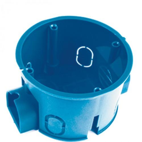 Коробка установочная GusiКоробки монтажные<br>Тип монтажного элемента: коробка установочная,<br>Тип установки коробки: скрытый монтаж,<br>Высота: 45,<br>Диаметр: 68,<br>Цвет: синий,<br>Степень защиты от пыли и влаги: IP 20<br>