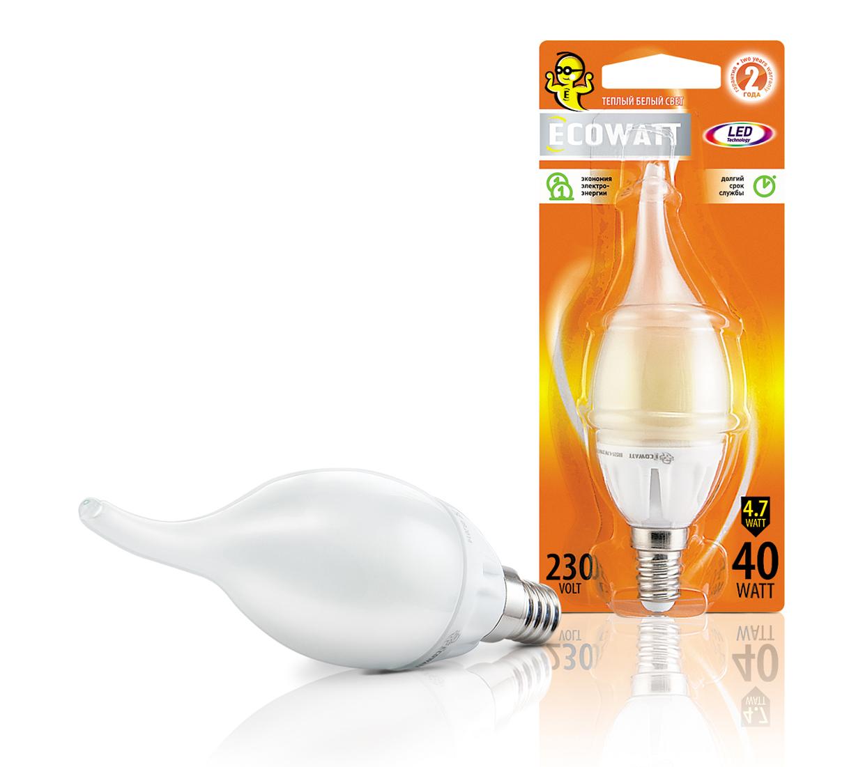 Bxs35 230В 4.7(40)w 2700k e14, Лампа светодиодная