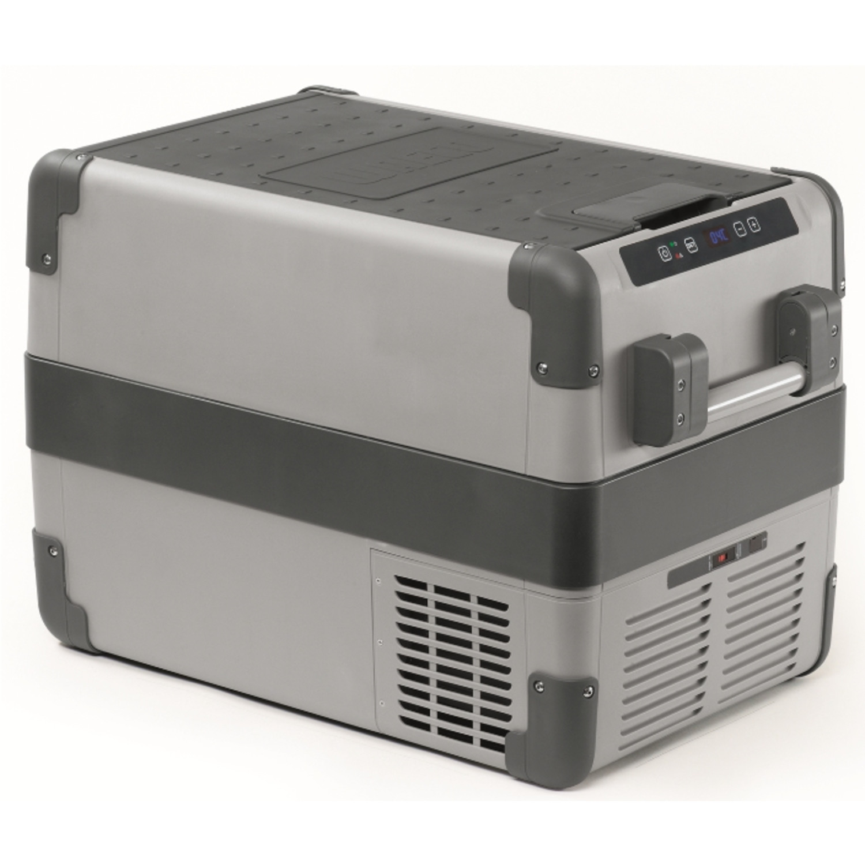 Холодильник WaecoАвтомобильные холодильники<br>Мощность: 48,<br>Объем: 38,<br>Тип: холодильник,<br>Тип питания: 12/24/220В,<br>Температура: -22-+10,<br>Материал: полипропилен,<br>Цвет: серый,<br>Размеры: 692x461x398<br>