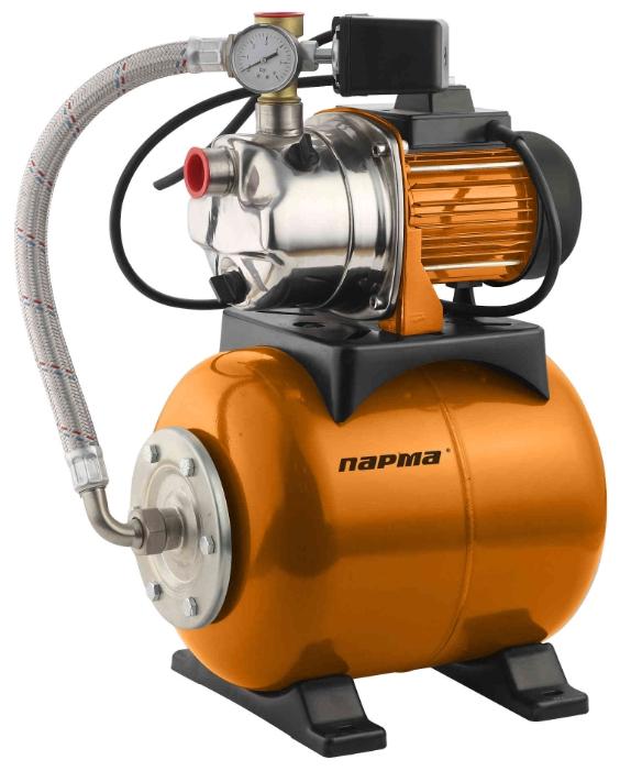 Насосная станция ПАРМАНасосные станции<br>Мощность: 600,<br>Назначение по воде: чистая вода,<br>Макс. производительность по воде: 50,<br>Тип насоса: поверхностный,<br>Мин. давление: 1.3,<br>Макс. давление: 2.6,<br>Макс. глубина: 8,<br>Макс. высота: 35,<br>Макс. температура воды на входе: 35,<br>Бак: 19,<br>Самовсасывающая: есть,<br>Диаметр всасывающего шланга: 1  ,<br>Диаметр на выходе (в дюймах): 1,<br>Вес нетто: 13.7<br>