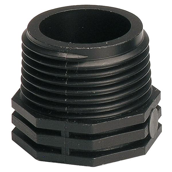 Футорка GfСоединительные элементы и фильтры<br>Тип элемента: адаптер,<br>Диаметр на выходе (в дюймах): 1,<br>Материал: пластик<br>