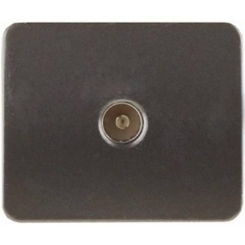 Розетка СВЕТОЗАРЭлектроустановочные изделия<br>Тип изделия: розетка телевизионная,<br>Способ монтажа: скрытой установки,<br>Цвет: темно-серый металлик,<br>Количество гнезд: 1<br>