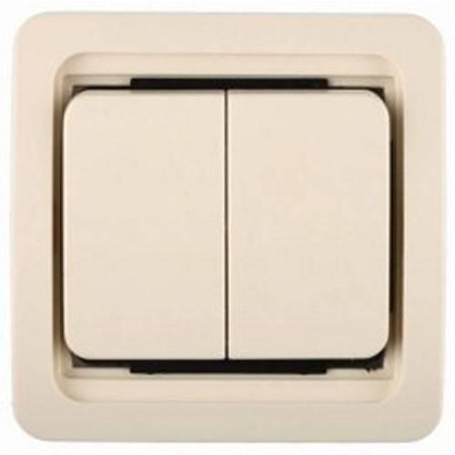 Выключатель СВЕТОЗАРЭлектроустановочные изделия<br>Тип изделия: выключатель,<br>Способ монтажа: скрытой установки,<br>Цвет: бежевый,<br>Сила тока: 10,<br>Количество клавиш: 2,<br>Выходная мощность максимально: 2200,<br>Напряжение: 220<br>