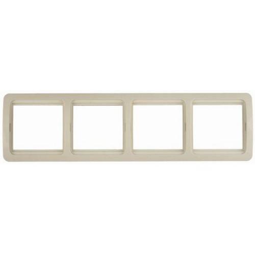 Панель СВЕТОЗАРЭлектроустановочные изделия<br>Тип изделия: рамка,<br>Способ монтажа: скрытой установки,<br>Цвет: белый,<br>Количество гнезд: 4<br>