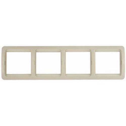Панель СВЕТОЗАРЭлектроустановочные изделия<br>Тип изделия: рамка,<br>Способ монтажа: скрытой установки,<br>Цвет: белый,<br>Количество гнезд: 4,<br>Коллекция: гамма<br>