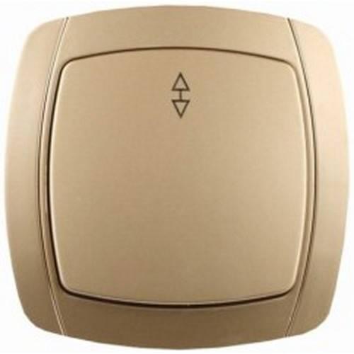 Выключатель СВЕТОЗАРЭлектроустановочные изделия<br>Тип изделия: выключатель,<br>Способ монтажа: скрытой установки,<br>Цвет: золото металлик,<br>Сила тока: 10,<br>Количество клавиш: 1,<br>Выходная мощность максимально: 2200,<br>Напряжение: 220,<br>Коллекция: акцент<br>