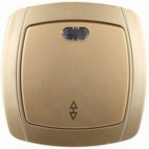 Выключатель СВЕТОЗАРЭлектроустановочные изделия<br>Тип изделия: выключатель,<br>Способ монтажа: скрытой установки,<br>Цвет: золотой,<br>Сила тока: 10,<br>Количество клавиш: 1,<br>Выходная мощность максимально: 2200,<br>Напряжение: 220<br>