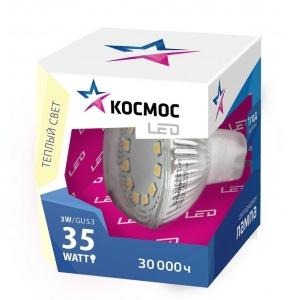 Лампа светодиодная КОСМОСЛампы<br>Тип лампы: светодиодная,<br>Форма лампы: рефлекторная,<br>Цвет колбы: матовая,<br>Тип цоколя: GU5.3,<br>Напряжение: 220,<br>Мощность: 7,<br>Цветовая температура: 4500,<br>Цвет свечения: холодный<br>